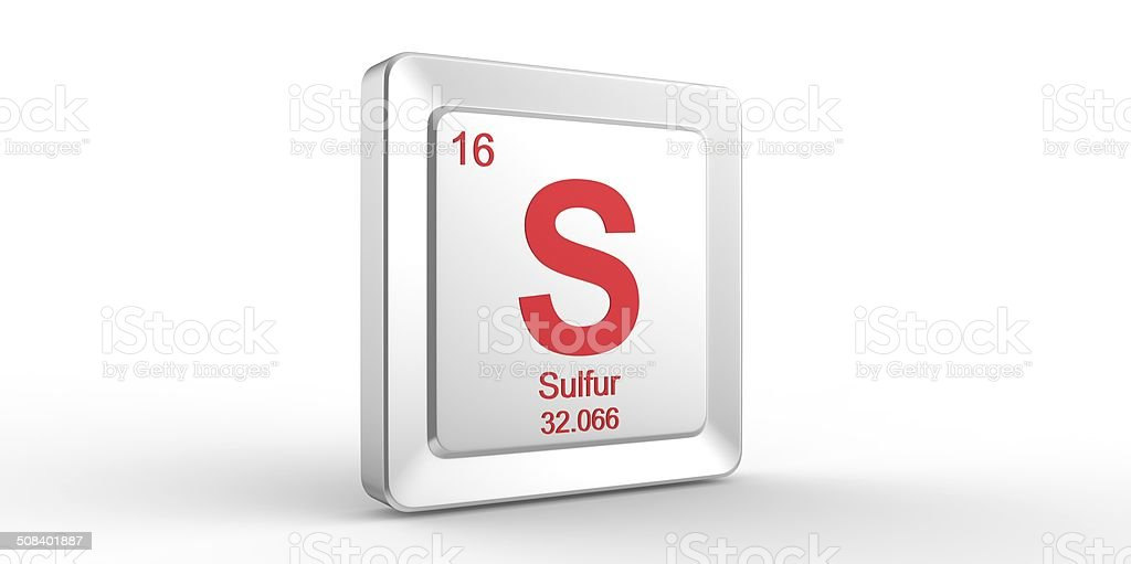 S Symbol 16 Material For Sulfur Chemical Element Stock Photo Istock