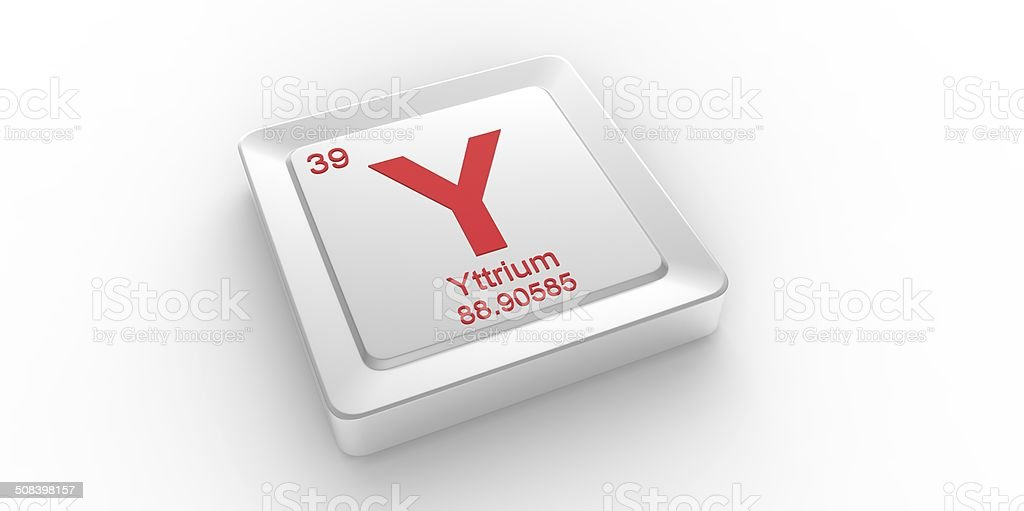 Y Symbol 39 Material For Yttrium Chemical Element Stock Photo Istock
