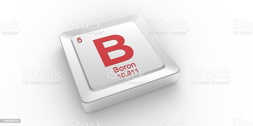 B Symbol 5 Material For Boron Chemical Element Stock Photo Istock