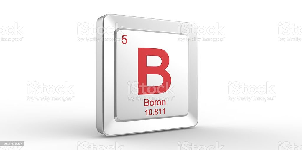 B Symbol 5 Material For Boron Chemical Element Stock Photo More