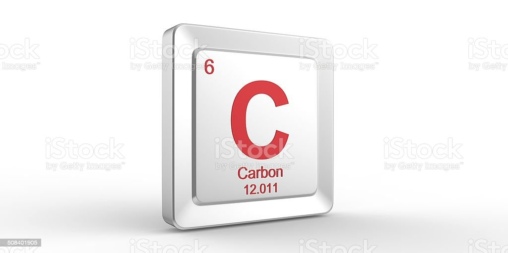C Symbol 6 Material For Carbon Chemical Element Stock Photo More