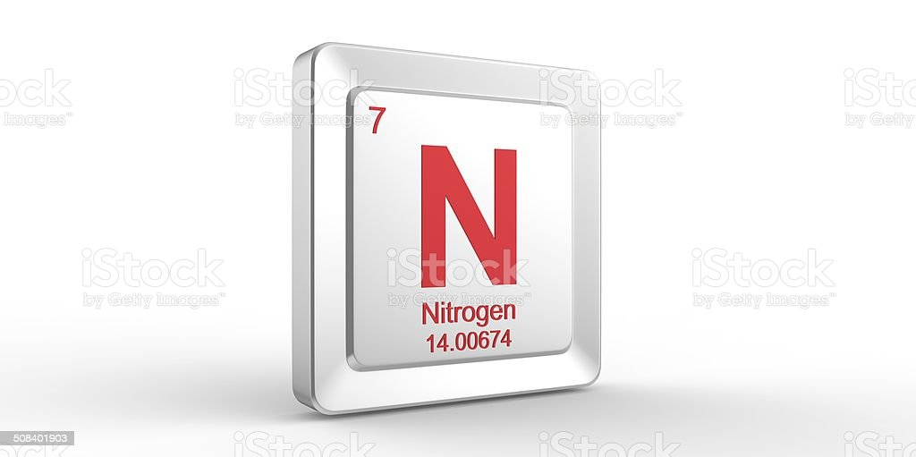 N symbol 7 material for nitrogen chemical element stock photo more built structure laboratory number periodic table symbol urtaz Image collections