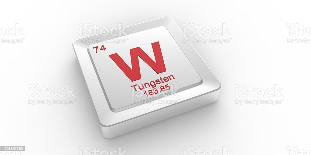 W symbol 74 material for tungsten chemical element stock photo w symbol 74 material for tungsten chemical element royalty free stock photo urtaz Choice Image
