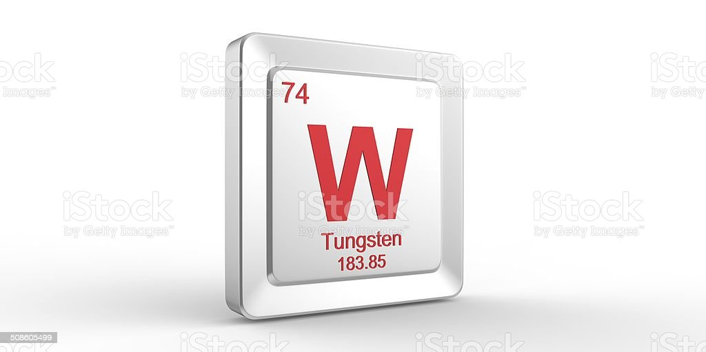 W Symbol 74 Material For Tungsten Chemical Element Stock Photo