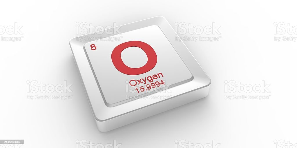 O Symbol 8 Material For Oxygen Chemical Element Stock Photo Istock