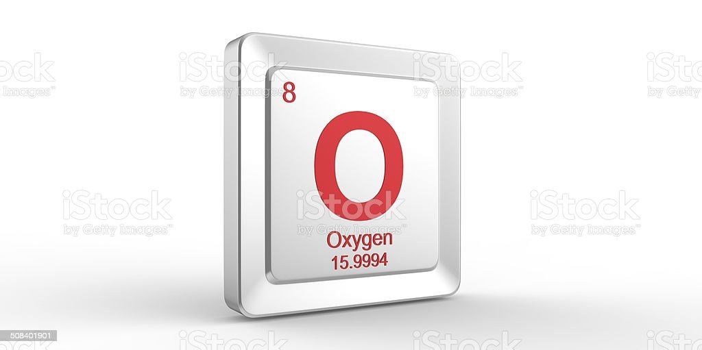 O Symbol 8 Material For Oxygen Chemical Element Stock Photo More