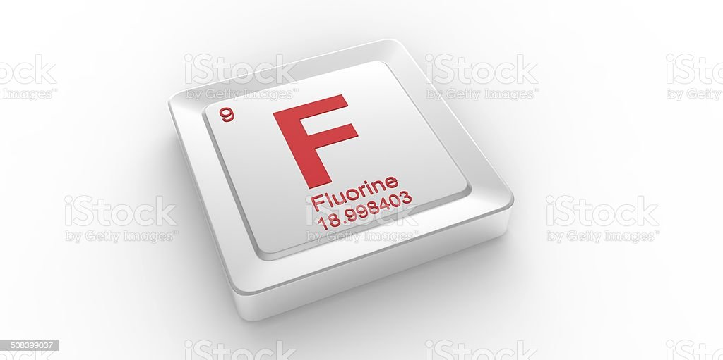F Symbol 9 Material For Fluorine Chemical Element Stock Photo Istock