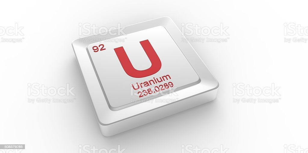U Symbol 92 Material For Uranium Chemical Element Stock Photo More