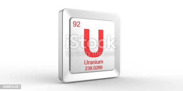istock U symbol 92 material for Uranium chemical element 508605461