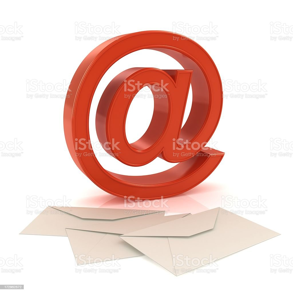 @ symbol and envelopes royalty-free stock photo