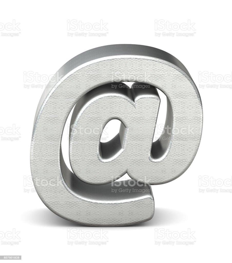 symbole en argent structure rendu 3d - Photo