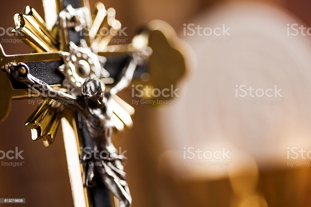 Symbol christianity religion, communion background stock photo