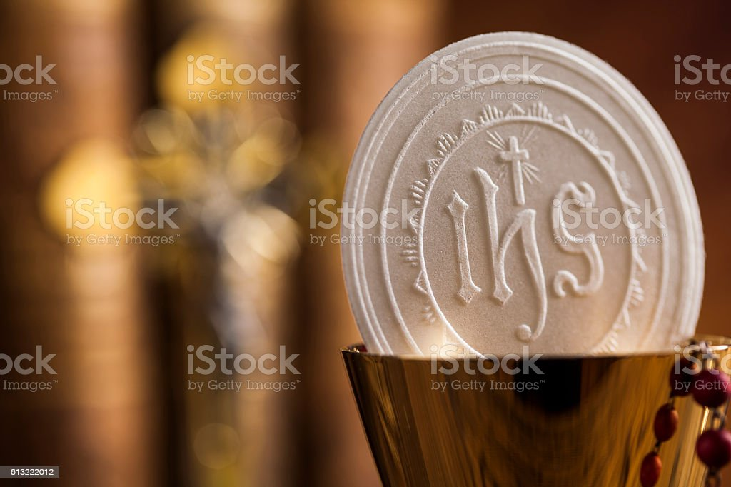 Symbol christianity religion, communion background – Foto