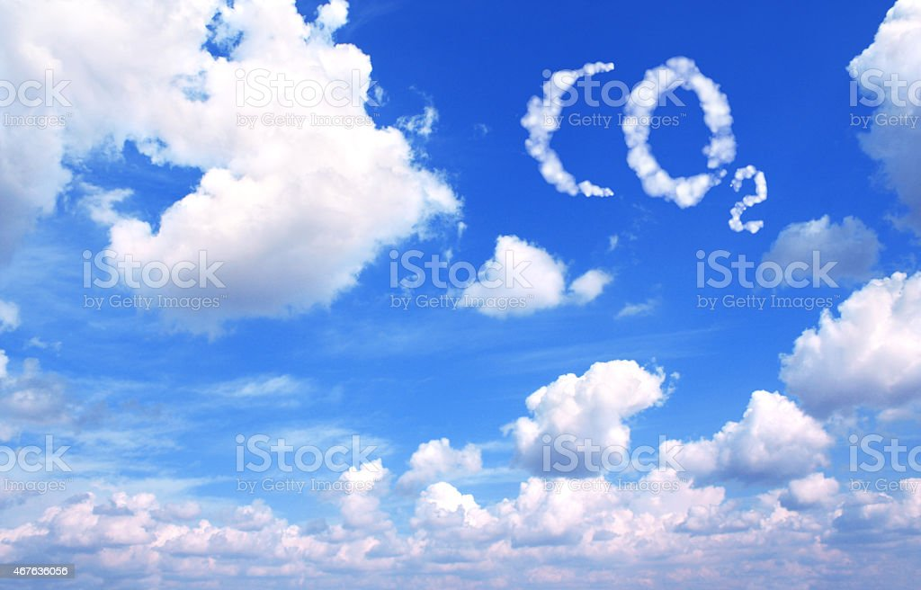 Símbolo de CO2 de nubes - foto de stock