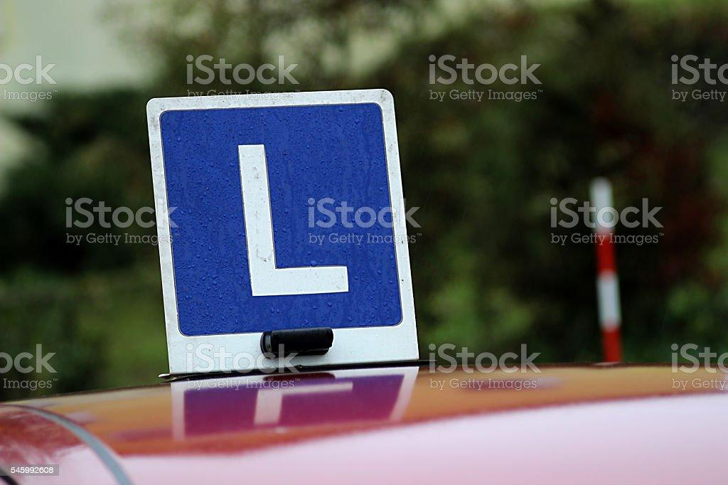 Symbol driving school L - foto de stock
