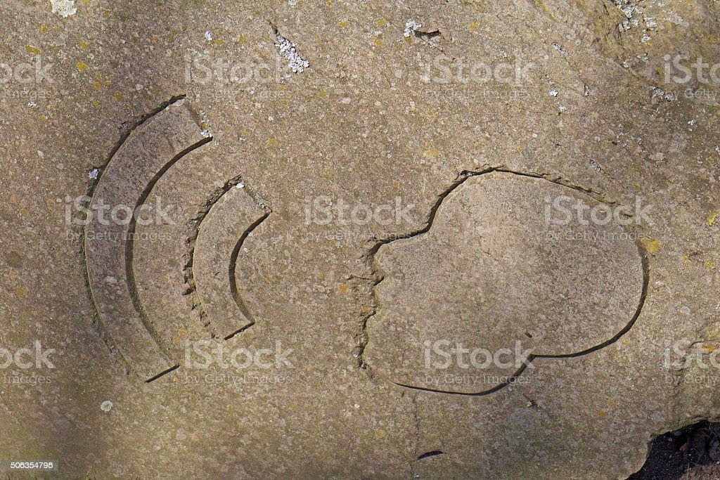 Symbol Echo stock photo