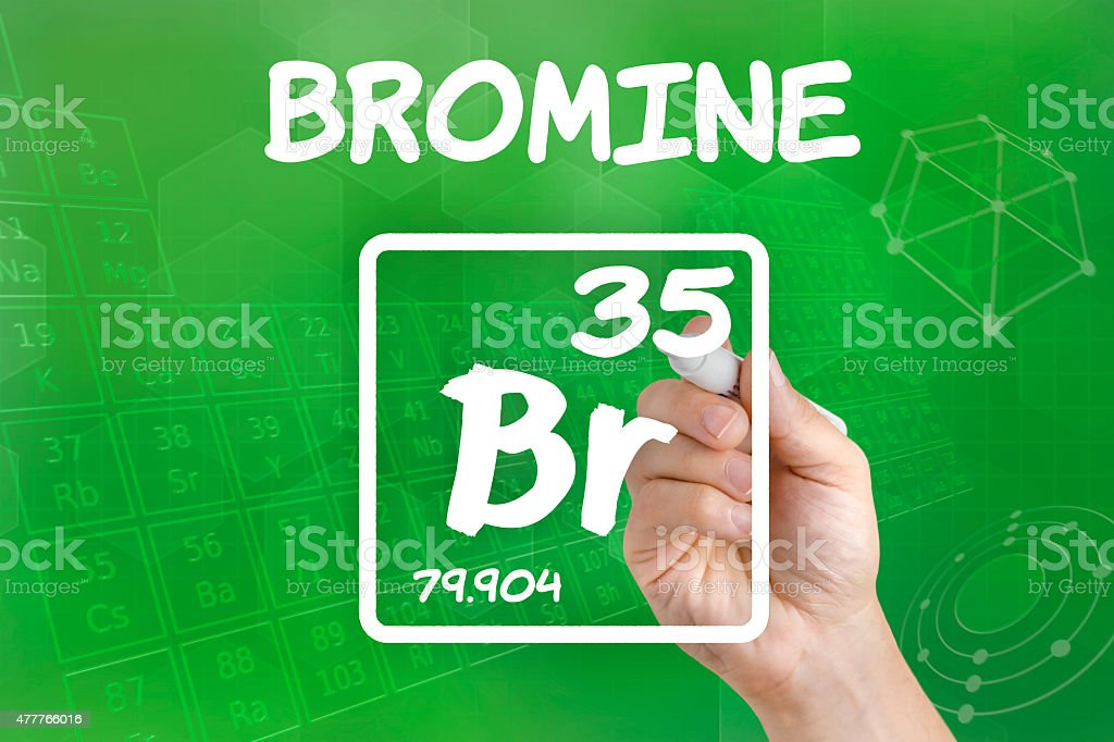 Symbol For The Chemical Element Bromine Stock Photo More Pictures