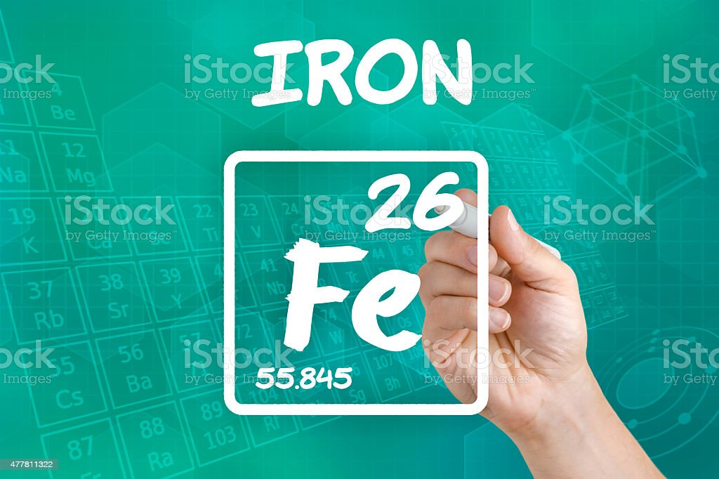 Symbol For The Chemical Element Iron Stock Photo More Pictures Of