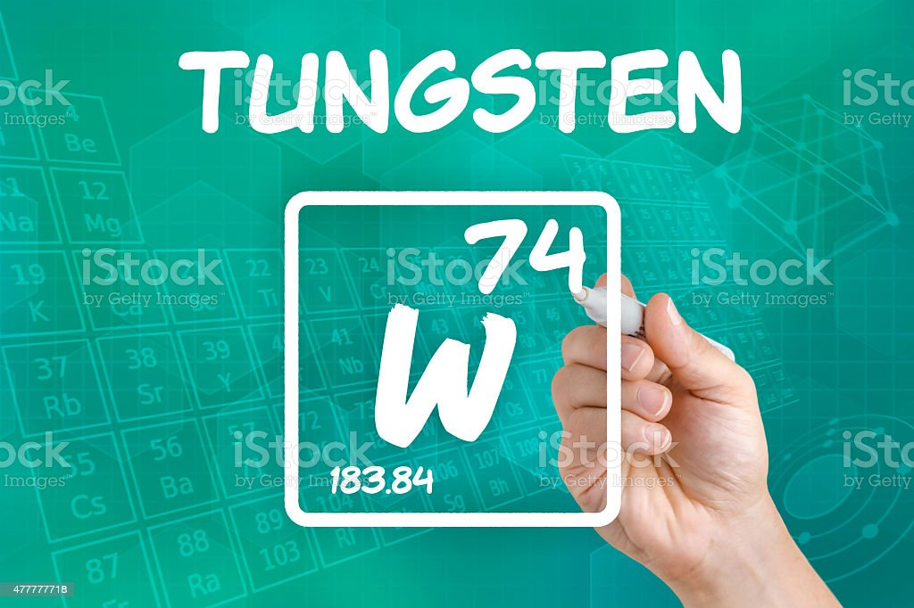 Symbol For The Chemical Element Tungsten Stock Photo Istock