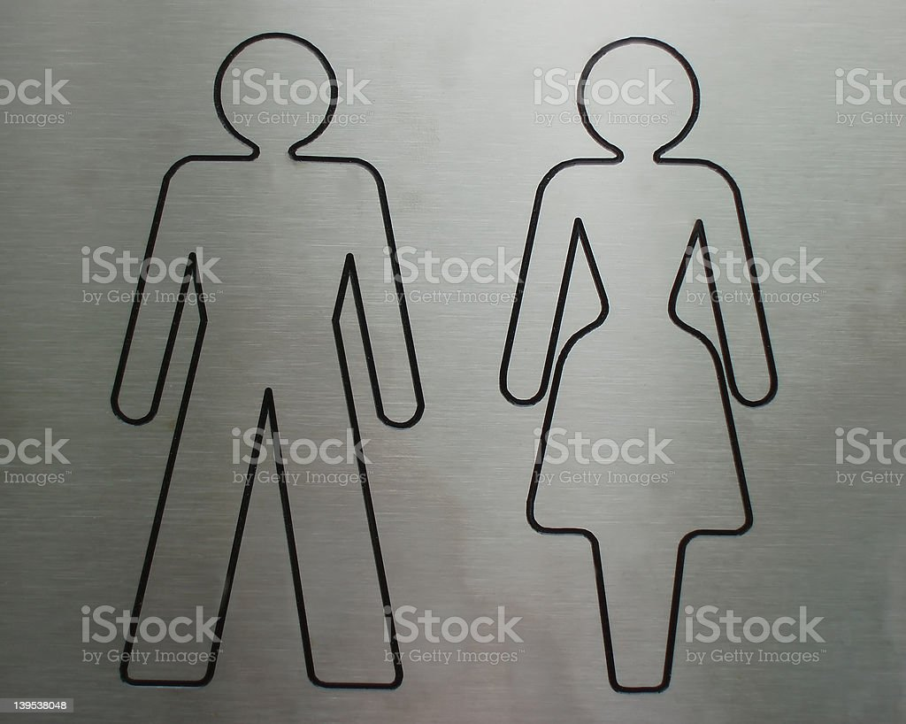 Symbol for toilet royalty-free stock photo