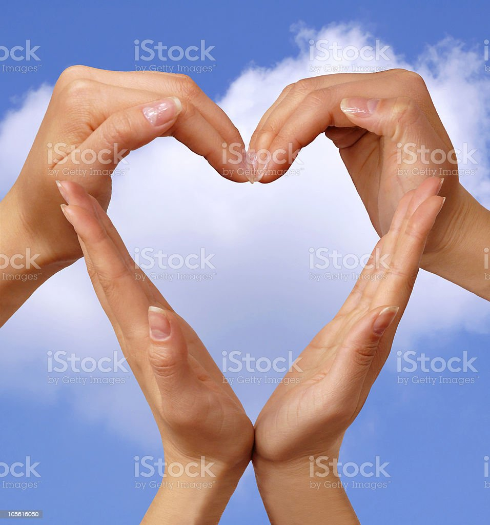 Symbol Heart love and life concept royalty-free stock photo