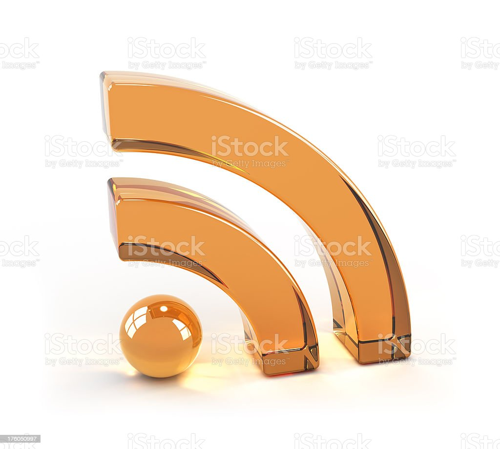 RSS Symbol / Icon Made of Glass stock photo