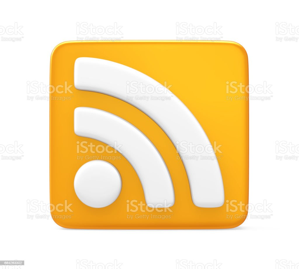 RSS Symbol Isolated stock photo