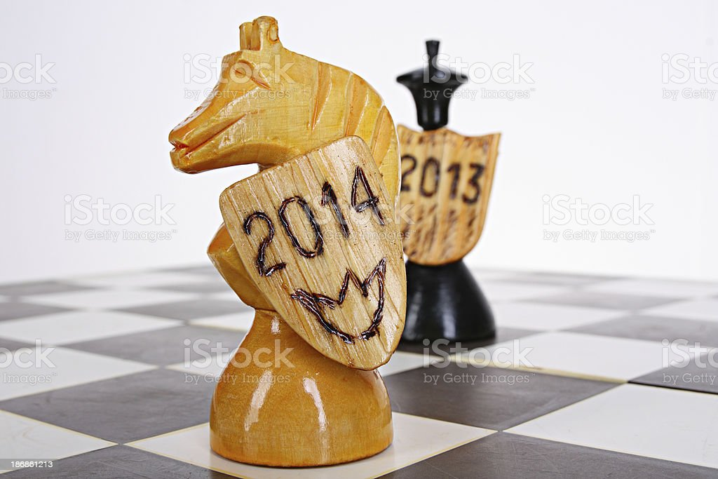 Symbol of 2014 royalty-free stock photo