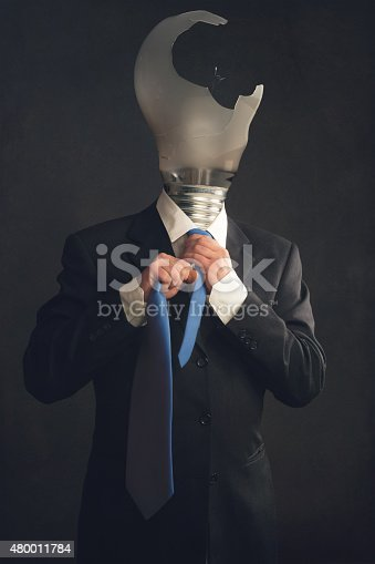 istock Symbol of a businessman with burnout syndrome 480011784