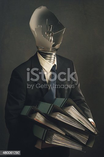 istock Symbol of a businessman with burnout syndrome 480061292