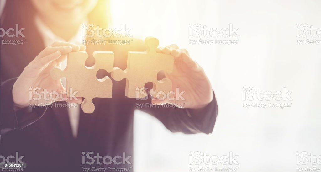 Symbol der Vereinigung und Verbindung. Konzept der Geschäftsstrategie. – Foto