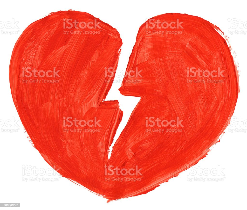 symbol of broken love stock photo