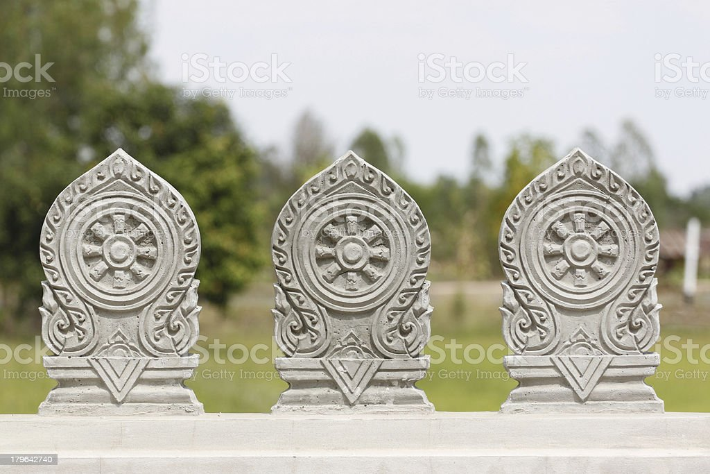 Symbol of Buddhism. royalty-free stock photo