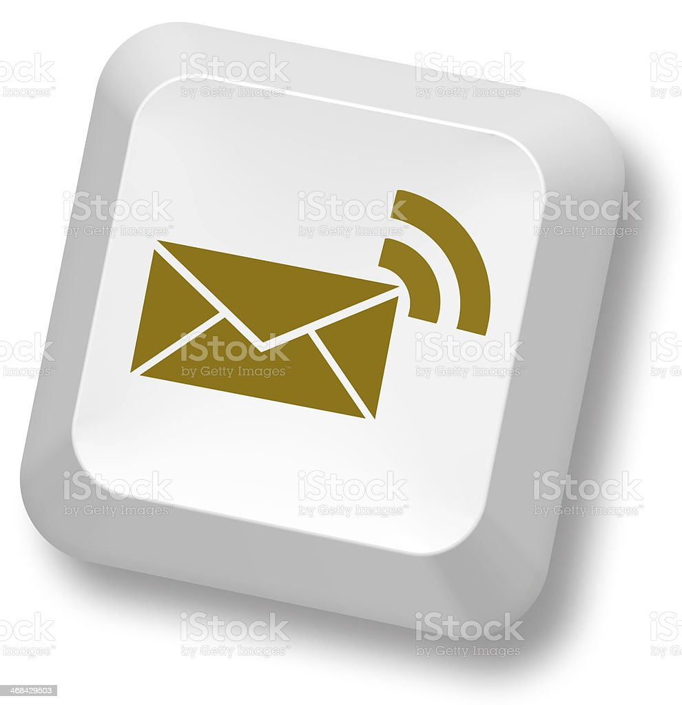 Symbol of email on button of keyboard stock photo