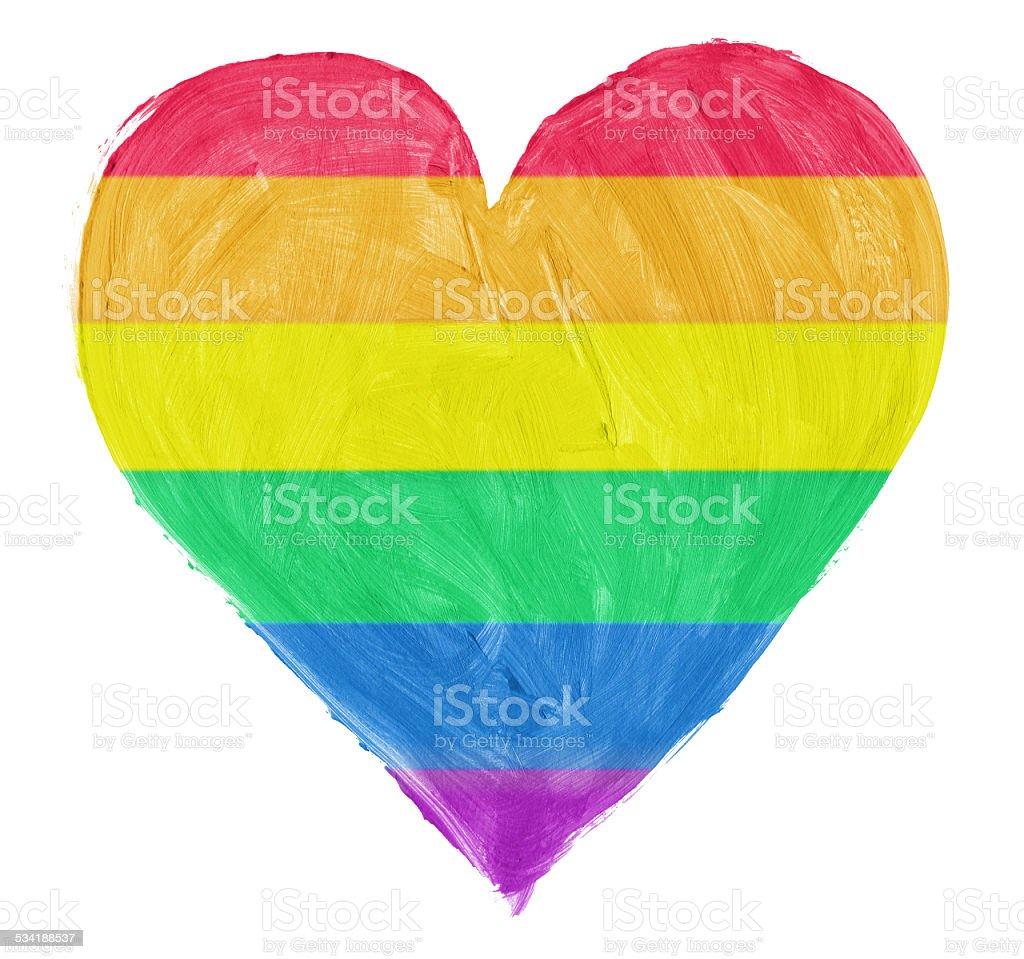 Symbol of gay,lesbian love stock photo