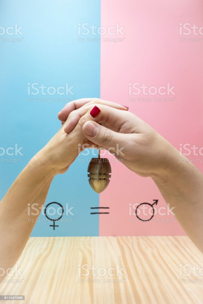 Symbol of gender equality stock photo