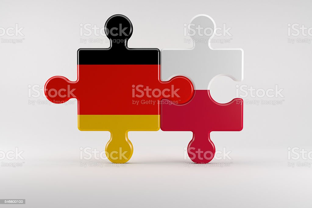 Symbol Of Good Relations Between Germany And Poland Stock Photo