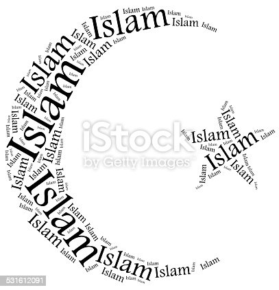 Symbol Of Islam Religion Word Cloud Illustration Stock Photo More