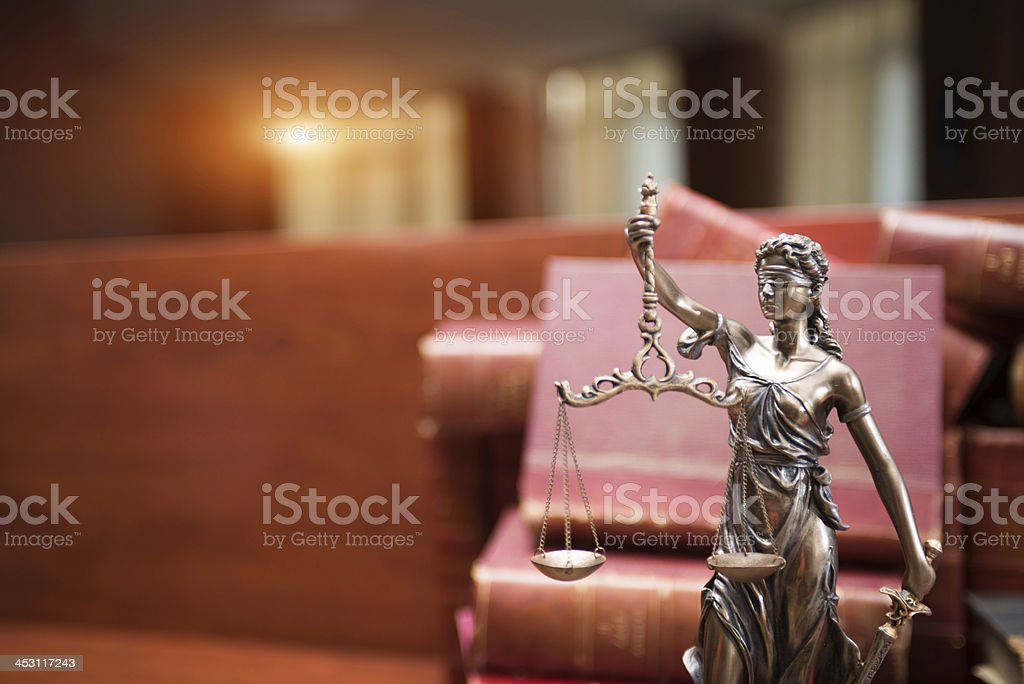Symbol of justice royalty-free stock photo
