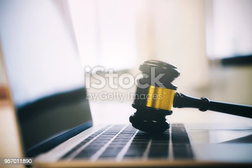 istock Symbol of law and justice. Law and justice concept. 957011890