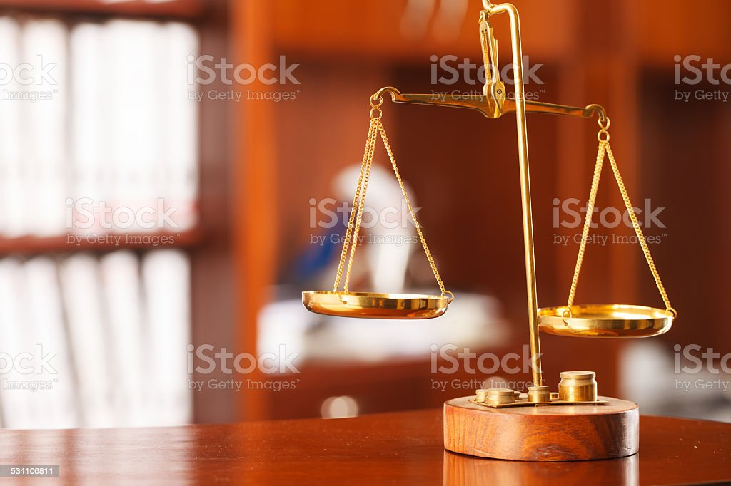 Symbol of law and justice stock photo