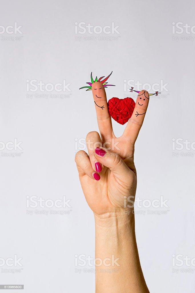 Fotografía De Símbolo De Amor Corazón Entre Los Dedos De Las Manos Y