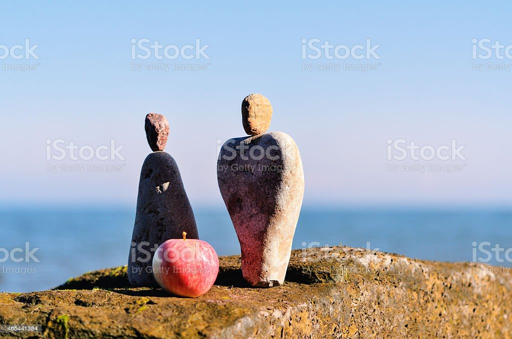 Symbol of man and woman stock photo
