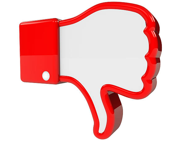 symbol of negative feedback - thumbs down stock photos and pictures