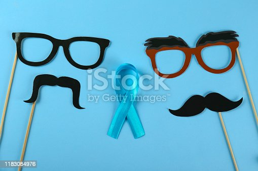 istock A symbol of prostate cancer awareness month. Men's health concept. 1183084976