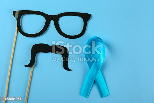 istock A symbol of prostate cancer awareness month. Men's health concept. 1183084981
