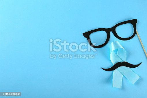 istock A symbol of prostate cancer awareness month. Men's health concept. 1183085008