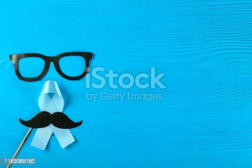 istock A symbol of prostate cancer awareness month. Men's health concept. 1183085182