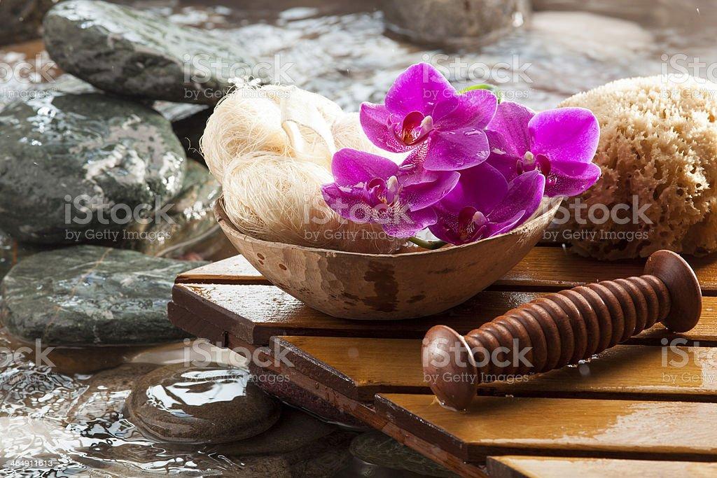 symbol of purifying massage stock photo