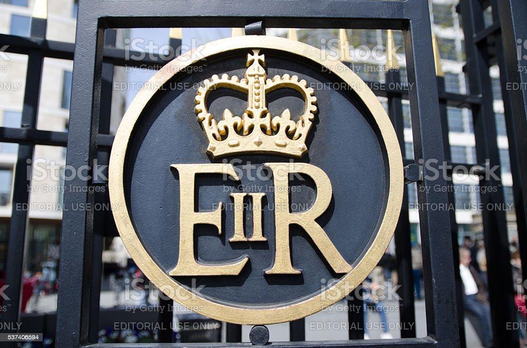 Symbol of Queen Elizabeth II stock photo